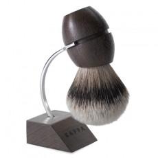 Pędzel do golenia z metalowym stojakiem