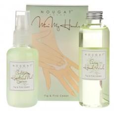 Mini zestaw do pielęgnacji dłoni - kosmetyki o aromacie figi i różowego cedru