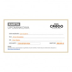 Wirtualna karta upominkowa o wartości 500 zł
